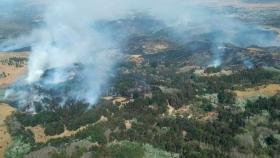 Córdoba: incendio forestal en La Cumbre