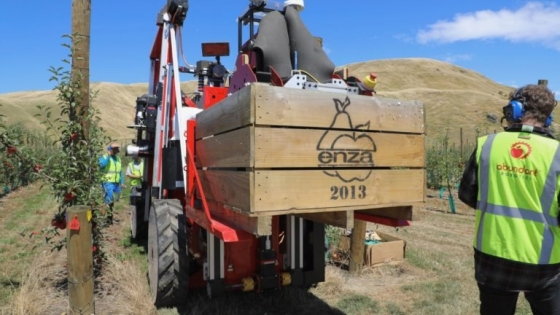 Nueva Zelanda comenzó a usar robots para la cosecha de manzanas