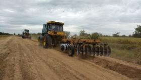 Aiola sobre la Ruta 42: Estos trabajos forman parte de un plan que prioriza los caminos rurales troncales