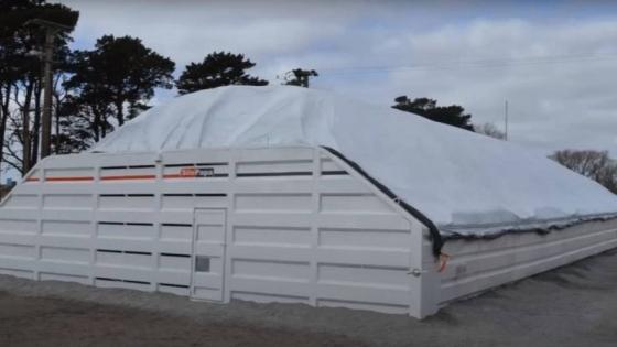 Un silo para tubérculos