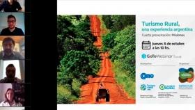 Misiones expuso su potencial en el Webinar: Turismo Rural, una experiencia argentina