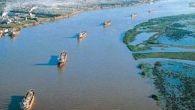 Exportaciones argentinas vía fluvial afectadas por el cambio climático