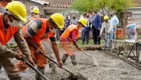 Plan Argentina Hace: Katopodis recorrió obras en marcha en Florencio Varela