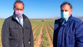 La recorrida de Scioli en San Juan y La Rioja: viñedos, ajo y exportaciones a Brasil