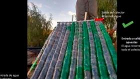 Una arquitecta neuquina fabrica termotanques solares con material reciclado