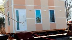 Módulos de madera transportables, para necesidades de habitaciones y salas