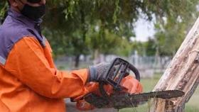 Godoy Cruz utiliza maquinaria eléctrica para cuidar el ambiente