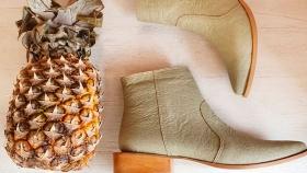 Zapatos hechos de ananá: el calzado del futuro