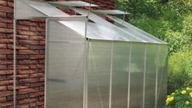 Invernadero a la pared de aluminio