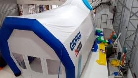 MG Agro ofrece galpones inflables para máquinas agrícolas