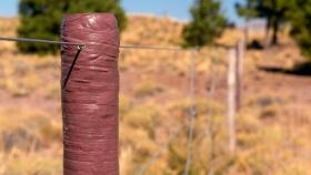 Postes para alambrados, livianos y económicos