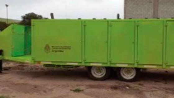 Chepes recibió maquinaria para Planta de Reciclado de Residuos