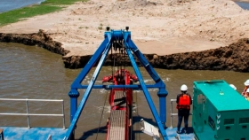 Avanzan las obras en la Cuenca del río Salado