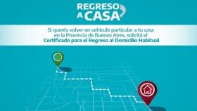 """""""Certificado para el Regreso al Domicilio Habitual"""""""