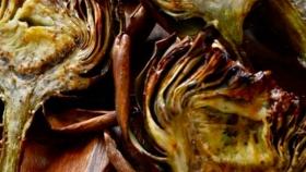 Delicia gourmet: alcauciles asados