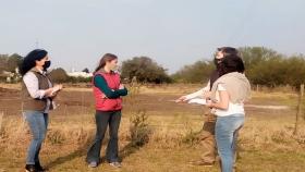 Larroque Coordinan acciones para la forestación de la Ruta 51